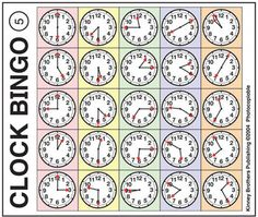 Clock Bingo is a great way to practice time!  Bingo isn't just for special occasions! Think of Bingo as a lesson review disguised as a game!