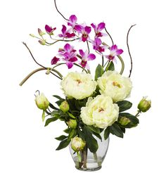 Nearly natural magnolia arrangement wvase white products nearly natural magnolia arrangement wvase white products pinterest magnolia natural and flower arrangements mightylinksfo