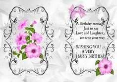 PINK PETUNIA A5 INSERT WITH VERSE, Also can be seen in Matching A4 petunia topper