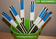 Make your own Rekenreks out of paint sticks.
