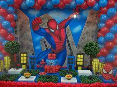 Decoração Festa Homem Aranha do Gabriel !!! Orçamentos para aluguel ou decoração completa pelo ...