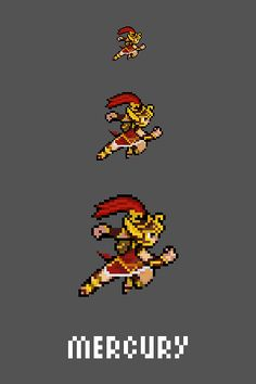 Mercury Emote / Sprite we made for Smite www.twitch.tv/smitegame