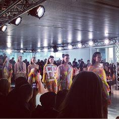Colourful #finale at #fyodorgolan #ss14 #lfw #londonfashionweek