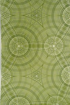 'Cycloid' wallpaper in Artichoke designed by Flavor Paper. Other colors available, even your custom requests. via flavor paper Pattern Texture, Green Pattern, Surface Pattern, Surface Design, Textile Patterns, Textile Prints, Color Patterns, Print Patterns, Pattern Designs