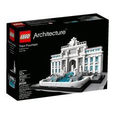 Interpretation of real-world architectural landmark, the Trevin Fountain! Collect the entire LEGO Architecture Landmark and Architect Series sets Booklet included with details on the design, architect
