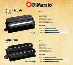 Captadores DiMarzio - Crunch Lab & LiquiFire