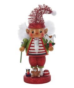NUTCRACKER~ 10'' Elf Nutcracker on #zulily! #zulilyfinds