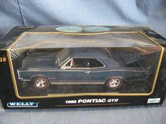 Welly 1:18 Scale Die-Cast 1966 Pontiac GTO Replica