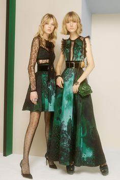 Elie Saab pre-fall 2017 green and black combination