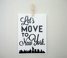 "...""To New York"" print"