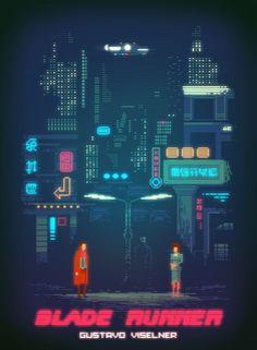 Blade Runner pixel art on Behance