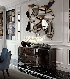 Classic Home Furniture Dining Room Design, Luxury Furniture, Interior Design, Living Room Decor, Luxury Interior Design, Mirror Decor Living Room, Interior, Living Room Designs, Luxurious Bedrooms