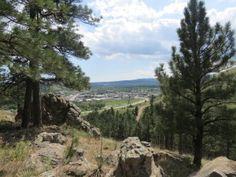 M Hill trail views Rapid City South Dakota