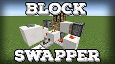 Block Swapper - Quick and Easy - Redstone Creations - Redstone Discussion and Mechanisms - Minecraft: Java Edition - Minecraft Forum Minecraft Redstone House, Minecraft Redstone Tutorial, Minecraft Redstone Creations, Minecraft Building Blueprints, Minecraft Blocks, Minecraft Farm, Minecraft Plans, Minecraft Construction, Minecraft Crafts