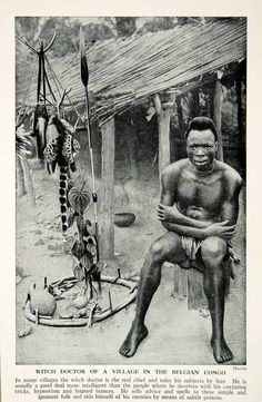 Congo Witch Doctor. #Congo #WitchDoctor #Africa