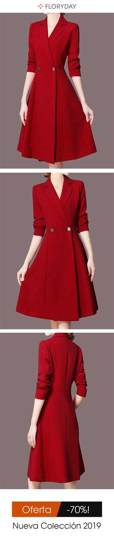 Hooded Printed Coat - Buy Online Dress Hooded Printed Coat - Buy Online Dress Knee-length dress with X silhouette and solid color V-neck Winter Dresses, Day Dresses, Nice Dresses, Evening Dresses, Casual Dresses, Formal Dresses, Classy Outfits, Chic Outfits, Pretty Outfits
