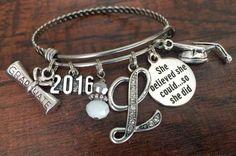 GRADUATION gift Graduate bracelet college graduation by buttonit
