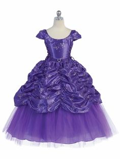 Possible Sofia the First Dress....Purple Taffeta Embroidered Cinderella Dress