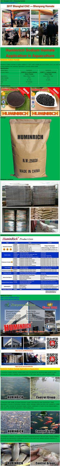 HuminRich SH9016 Fish Feed Additive Sodium Humate