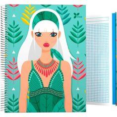 """Cuadernos Tapa Dura A4-A5-A6-A7 Archivador de la nueva colección Noa 2017 en su serie """"Hojas"""".  #papeleria #materialescolar #materialdeoficina #Grafoplás #diseño #verde #chica"""
