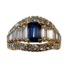 ASTOUNDING! Magnificent 4.06tcw UNHEATED Blue Sapphire & Diamond Ring