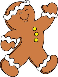 gingerbread boy on spoon skis by ronnie rooney ruth levison design rh pinterest com free clipart gingerbread man outline christmas clipart gingerbread man