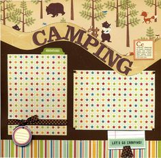Camping Two Premade Scrapbook Pages by SusansScrapbookShack