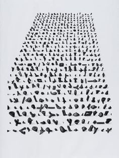 """Lee Bae: The Streams Rise in the Firmament"" at Daegu Art Museum BAE LEE Untitled, 1998 drawing, charcoal on paper 57.1×44.9 in (145×114 cm)"