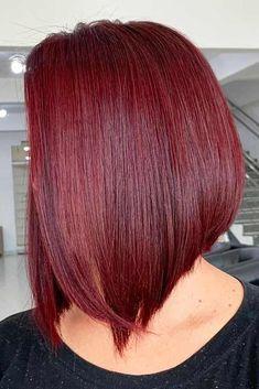 Stunning Sleek Red Bob Hair Cuts for women in 2019 Red Hair red bob hair Layered Bob Hairstyles, Bob Hairstyles For Fine Hair, Hairstyles Haircuts, Medium Haircuts, Red Bob Haircut, Asymmetrical Bob Haircuts, Hair Trends, Curly Hair Styles, Hair Cuts