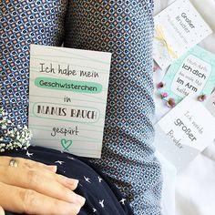 Meilensteinkarten Große Schwester - Zauberhafte Momente beim Schwesterwerden und Schwestersein kannst du mit diesem Mini-Meilensteinkartenset festhalten.