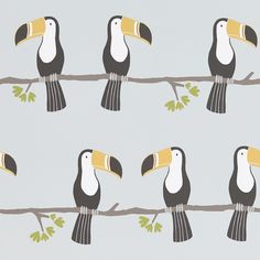Terry Toucan behang 111270 uit de collectie Guess Who Scion. Interior Wallpaper, Modern Wallpaper, Home Wallpaper, Fabric Wallpaper, Wallpaper Ideas, Designer Wallpaper, Patterns In Nature, Print Patterns, Really Cool Wallpapers
