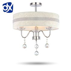 ==> [Free Shipping] Buy Best Fabric Shade Modern LED Crystal Chandelier Diameter 40cm/50cm Optional Rose/Diamond Pattern Optional Free Shipping Online with LOWEST Price | 1661577374