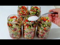 Turkish Recipes, Ethnic Recipes, Frozen Yogurt, Fresh Rolls, Feel Good, Mason Jars, Food And Drink, Meals, Youtube