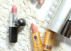 MAC Syrup Lipstick and Lipstick Queen Saint Lipstick in Bare Nude