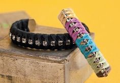 wrappd crystal bangles - from Strung, Wired, Knotted, Braided: Make Stylish Wrap Bracelets Using Hemp, Leather, and More - Jewelry Making Daily blog