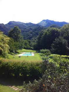 Beautiful spot near the sea but with a complete mountain feeling. Amazing large suites, so definately suitable for a family. And really nice food too!  Villa la Bianca near Lucca and 10km from the beaches. http://www.villalabianca.com/
