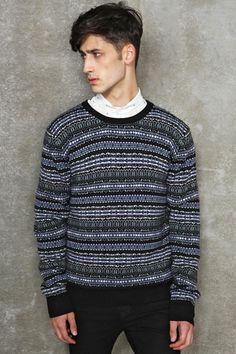 Eleven Paris Ruffle Neck Fair Isle Cyma Sweater