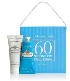 Crabtree & Evelyn La Source - 60 Second Fix for Hands by Crabtree & Evelyn. Save 7 Off!. $35.49. 60-Second Fix Kit for Hands. Restore dry, parched hands to silky smoothness in just two easy steps. First apply Hand Recovery, our revolutionary hand treatment that cleanses, exfoliates, and moisturises. Follow with our intensive Hand Therapy for beautifully soft hands all day.