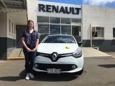 Madi picking up her new Renault Clio...