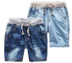 2017 Boys Summer Denim Shorts Brand Fashion Jeans Big Boys Shorts 1-14Y Children's Beach Shorts Casual Boys Boardshorts