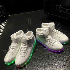 High Top Led Shoes For Men Women New Winter Luminous Boots For Adults Light  Up Casual 330018c627e