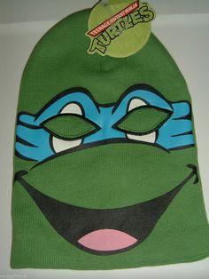 Teenage Mutant Ninja Turtles Tmnt Leonardo Ski Mask Knit Hat NWT  other   skimask Turtle 71c807d3107f