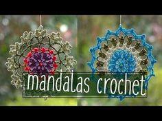 Como tejer un Mandala en tejido crochet o ganchillo tutorial paso a paso. - YouTube Crochet Granny, Crochet Doilies, Crochet Lace, Crochet Stitches, Crochet Patterns, Fairy Crafts, Crochet Videos, Dream Catcher, Crochet Earrings