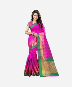 fd9cb24475a Cotton Sarees Online Shopping at most popular ethnic store renzza. Buy Pink  Poly Cotton Sarees