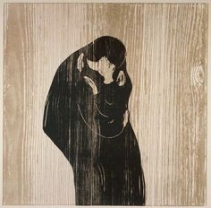 Edvard Munch  'The Kiss'