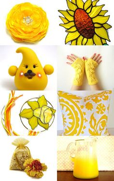 Gorgeous spring yellow treasury featuring handmade items from Etsy.