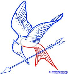 This would be great to embroider on something. Mockingjay!