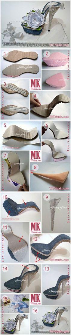 Сувенирная туфелька своими руками » Планета рукоделия