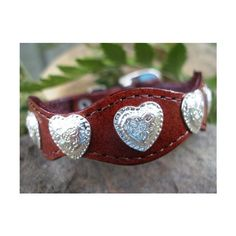 Texas Hill Country Western heart concho belt buckle leather bracelet... via Polyvore  CLICK THE PIC and Learn how you can EARN MONEY while still having fun on Pinterest