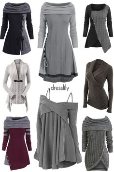 Womens fashion outfits outfits with sweatshirts womens sweater casual outfits for women plusstyle trendy sweaters cardigans for christmas and sales! dresslily sweaters cardigans gray outfits forfall cozy winter pullover women suits and sneaker trend Mode Outfits, Fashion Outfits, Womens Fashion, Gray Outfits, Trendy Outfits, Classy Outfits, Chic Outfits, Pullover Sweaters, Teen Fashion